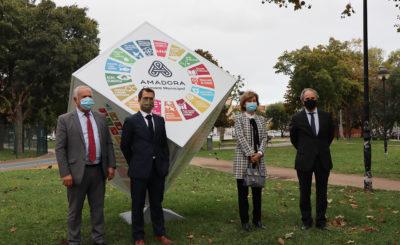 """Amadora inaugura """"Cubo ODS"""" e reforça compromisso com a Agenda 2030 para o Desenvolvimento Sustentável"""